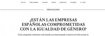 Editorial en ethic ¿ESTÁN LAS EMPRESAS ESPAÑOLAS COMPROMETIDAS CON LA IGUALDAD DE GÉNERO?